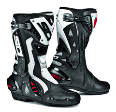 SIDI ST AIR BLACK/WHITE MOTORCYCLE SPORTS RACE BOOTS  + FREE SOCKS - Sidi -  - MSG BIKE GEAR