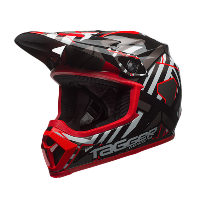 Bell MX-9 MIPS Motocross Off Road Helmet - Tagger Double Trouble Black / Red - Bell -  - MSG BIKE GEAR - 1