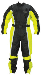SPADA 407 1 PIECE WATERPROOF MOTORCYCLE MOTORBIKE OVERSUIT BLACK/FLUO - Spada -  - MSG BIKE GEAR