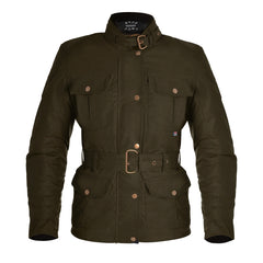 Oxford Bradwell Waxed Waterproof Ladies Jacket - Rifle Green