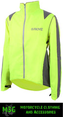 PROVIZ NIGHTRIDER WATERPROOF REFLECTIVE WINDPROOF CYCLING JACKET - YELLOW new - Proviz -  - MSG BIKE GEAR