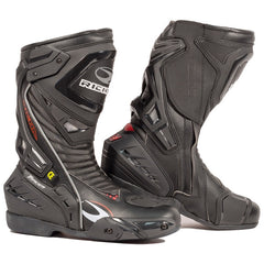 Richa Tracer EVO Sports Waterproof CE Motorcycle Track Boots Black - Richa -  - MSG BIKE GEAR - 1