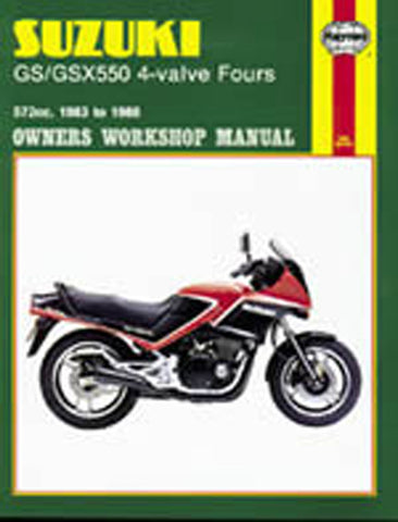 HAYNES 1133 SUZUKI GS/GSX550 4-VALVE FOURS MANUAL new