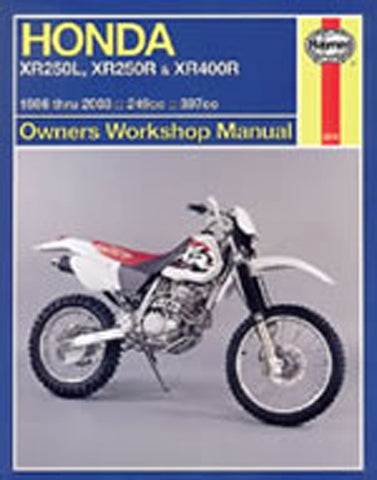 HAYNES 2219 HONDA XR250L;XR250R & XR400R 86-03 MANUAL new
