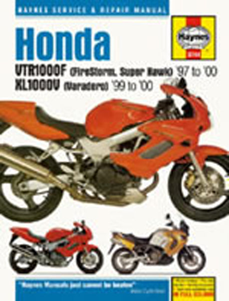 HAYNES 3744 HONDA VTR1000 FIRESTORM & XL1000V MANUAL new