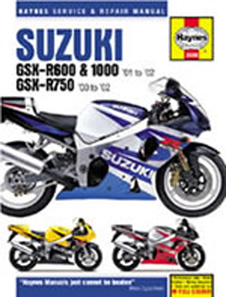 HAYNES 3986 SUZUKI GSX-R600;750;1000 K1-K3 00 & 01-03 MANUAL new