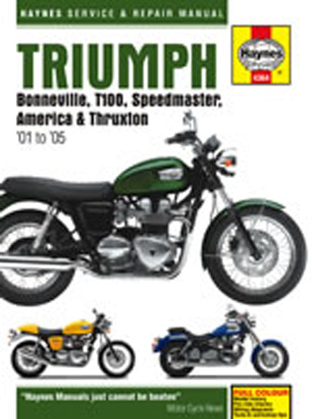 HAYNES 4364 TRIUMPH BONNE;T100;SPEED;THRUX 00-12 MANUAL new