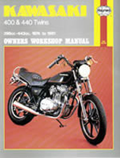 HAYNES 281 KAWASAKI 400 & 440 TWINS 74-81 MANUAL new