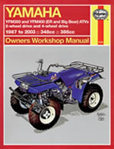 HAYNES 2126 YAMAHA ATV YFM350 & YFM400 (ER AND BIG BEAR) 87-09 new