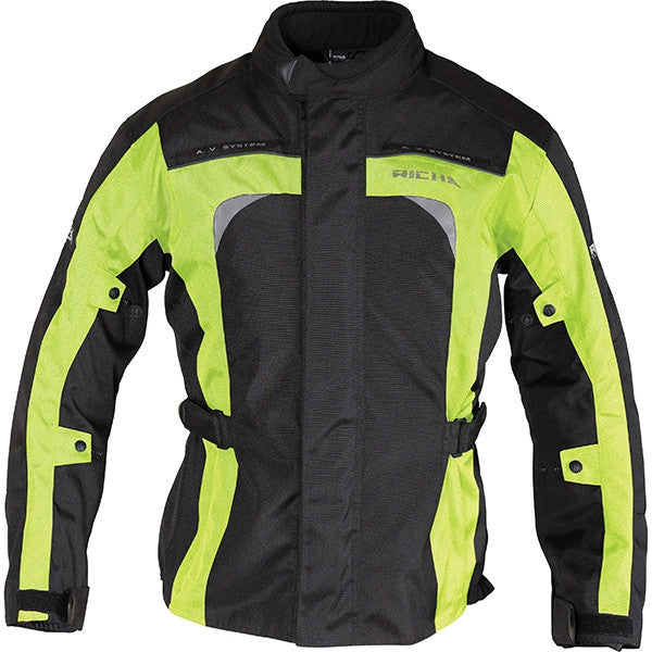Richa Bolt Waterproof Textile Motorcycle Jacket.Black/fluo Yellow - Richa -  - MSG BIKE GEAR - 1