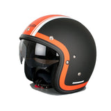 HJC FG-70S Open Face DVS Motorcycle Scooter Helmet - Heritage MC7F Orange - HJC -  - MSG BIKE GEAR - 2