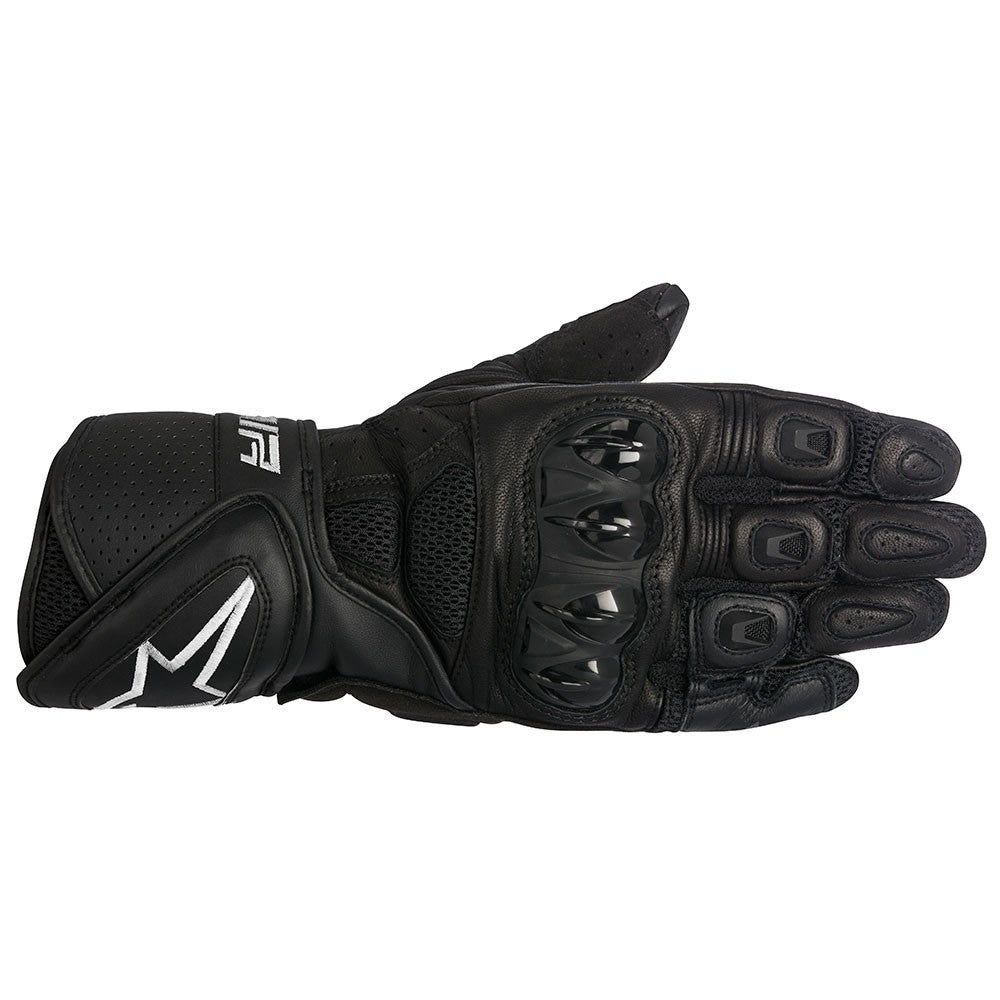 Alpinestars SP Air Mesh Leather Sports Motorbike Motorcycle Gloves - Black - Alpinestars -  - MSG BIKE GEAR