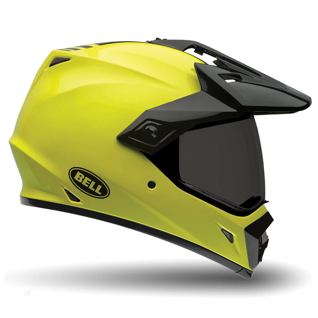 Bell MX-9 Adventure Dual Off & on Road Motorcycle Helmet (Solid Hi-Viz) - Bell -  - MSG BIKE GEAR