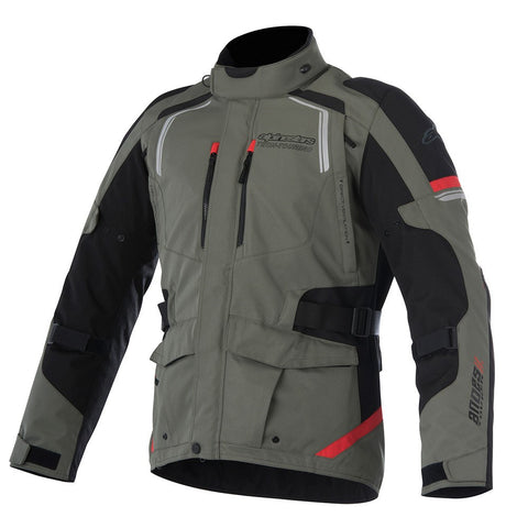 Alpinestars Andes V2 Drystar Waterproof Motorcycle Jacket Green/Black/Red
