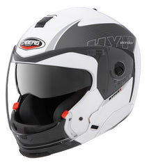 CABERG HYPER X MOD WHITE/ANTH CHIN REMOVAL MOTORCYCLE HELMET - Caberg -  - MSG BIKE GEAR