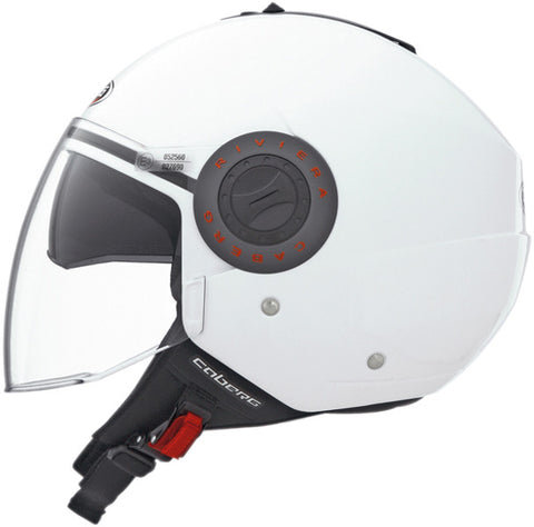 CABERG RIVIERA V2+ WHITE OPEN FACE MOTORCYCLE SPORTS HELMET - Caberg -  - MSG BIKE GEAR