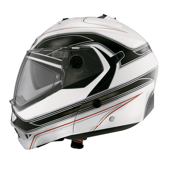 CABERG DUKE BOOSTER WHITE/GREY FLIP FRONT MOTORCYCLE HELMET - Caberg -  - MSG BIKE GEAR