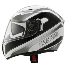CABERG V2RR CHRONO WHITE/BLACK FULL FACE MOTORCYCLE HELMET - Caberg -  - MSG BIKE GEAR