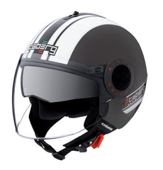 CABERG RIVIERA V2+ PURE MATT BLACK/WHITE OPEN FACE MOTORCYCLE HELMET - Caberg -  - MSG BIKE GEAR