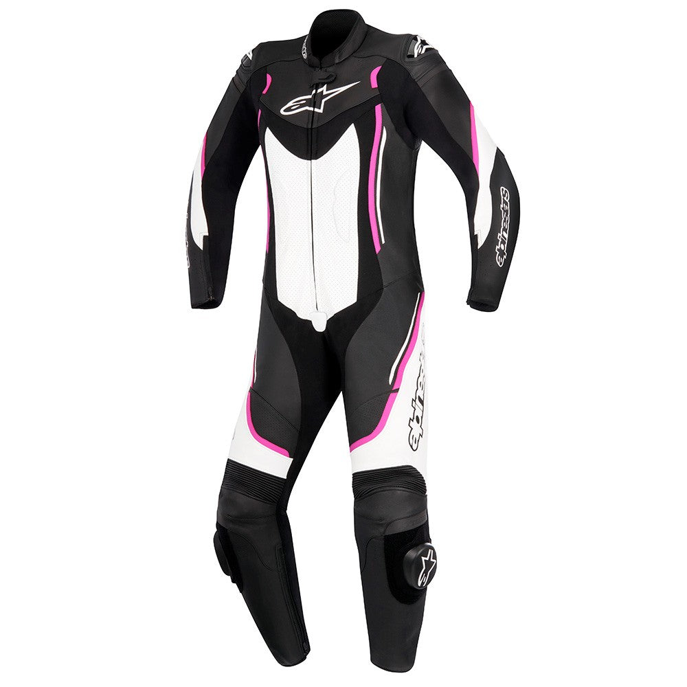 Alpinestars Stella Motegi V2 One Piece Ladies Leather Suit - Black / White / Pink