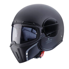 Caberg Ghost Open Face Streetfighter Scooter Motorcycle Helmet - Matt Black - Caberg -  - MSG BIKE GEAR - 1