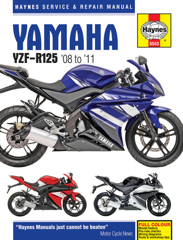 HAYNES 5543 YAMAHA YZF-R125 (08-11) MANUAL new