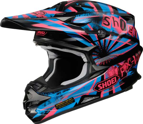 SHOEI VFX-W DISSENT BLACK/PURP/BLUE TC7 OFF ROAD ENDURO MX HELMET - Shoei -  - MSG BIKE GEAR
