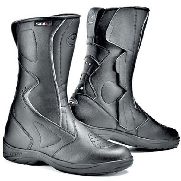 SIDI LIVIA RAIN BLACK/BLACK LADIES WATERPROOF MOTORCYCLE BOOTS + FREE SOCKS - Sidi -  - MSG BIKE GEAR