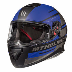 MT Thunder 3 SV Pitlane Full Face Helmets - Matt Black/Blue