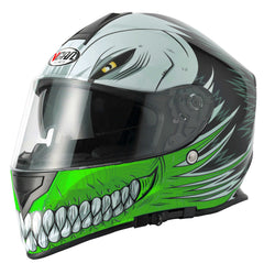 Vcan V127 Full Face Helmet - Hollow Green