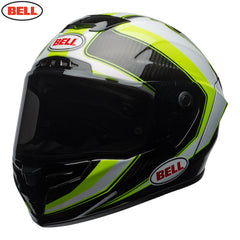 Bell 2018 Race Star Helmet - Sector White / Hi-Viz Green