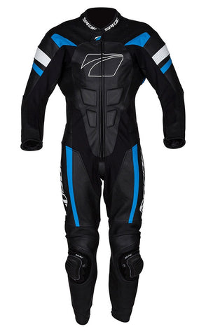 Spada Curve Evo 1 Piece Leather Motorcycle Race Suit - Black/Blue/White - Spada -  - MSG BIKE GEAR - 1