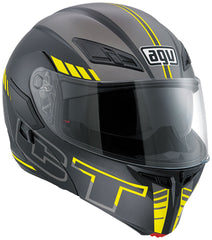 AGV Compact ST Seattle Flip Up Helmet - Black / Silver / Yellow - SALE
