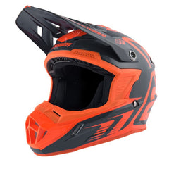 ANSWER HELMET AR1 EDGE 2019 CHARCOAL FLO ORANGE MOTOCROSS