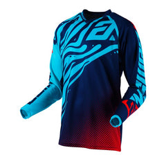ANSWER SHIRT SYNCRON FLOW 2019 ASTANA INDIGO BRIGHT RED MOTOCROSS JERSEY