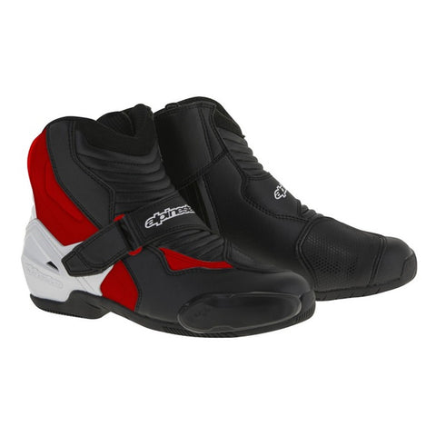 Alpinestars SMX-1 R Short Urban Motorbike Motorcycle Boots - Black/White/Red - Alpinestars -  - MSG BIKE GEAR - 1