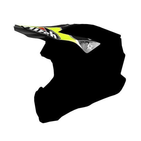 Airoh Twist Replacement MX Helmet Peak - Cairoli Mantova Yellow