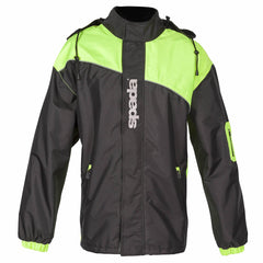 Spada Aqua Mesh Lined Motorcycle Motorbike Waterproof Jacket - Black/Flo - Spada -  - MSG BIKE GEAR - 2