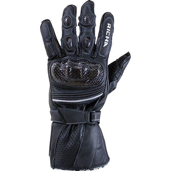 Richa Ravine Sports Race Carbon Fibre Motorcycle Gloves Black - Richa -  - MSG BIKE GEAR - 1