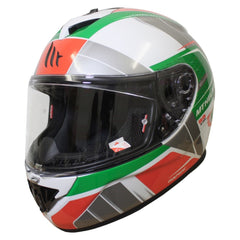 MT Rapide Global Helmet - White / Green / Red