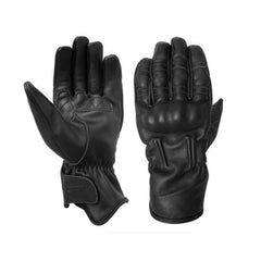 RST 2144 Retro II 2 CE Approved Men's Vintage Leather Motorcycle Gloves BLack