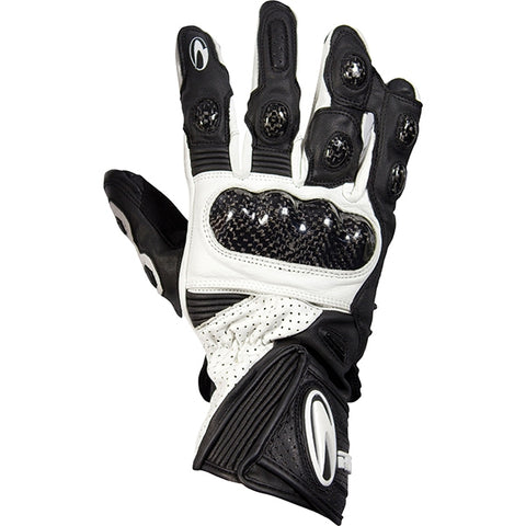 Richa WSB Leather Armoured Motorbike Motorcycle Gloves Black/white - Richa -  - MSG BIKE GEAR - 1