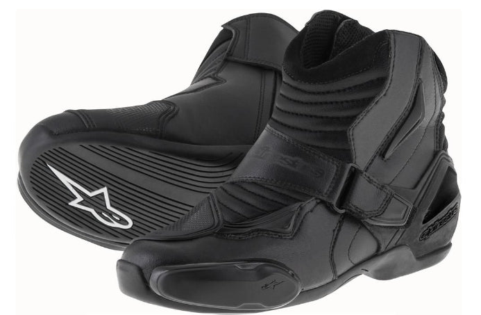 Alpinestars SMX 1 R Short Urban Motorbike Motorcycle Boots Black - ALPINESTARS -  - MSG BIKE GEAR - 1