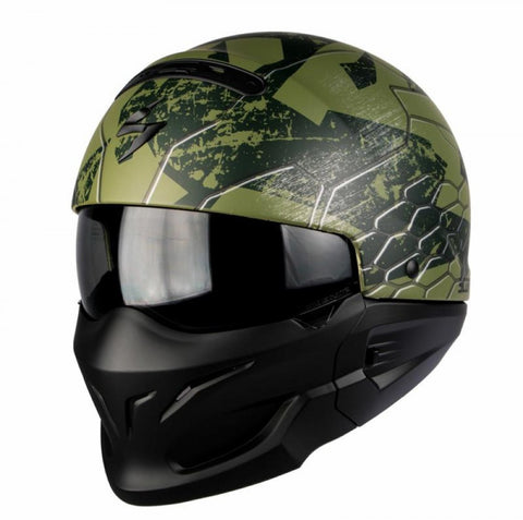 Scorpion Exo Combat/Covert 2 in 1 Modular Motorcycle Helmet Ratnik Green