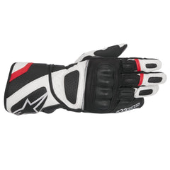 Alpinestars SP-Z Drystar Waterproof Leather Motorcycle Gloves Black/White/Red - Alpinestars -  - MSG BIKE GEAR - 1