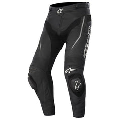 Alpinestars Track Leather Motorbike Motorcycle Pants / Trousers - Black - Alpinestars -  - MSG BIKE GEAR - 1