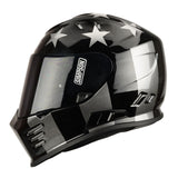 Simpson 2018 Venom Full Face Helmet - Subdued Black / Silver