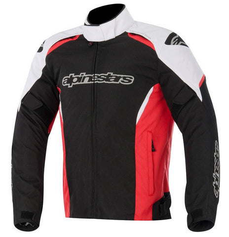 Alpinestars Gunner Waterproof Textile Motorcycle Jacket - Black/White/Red - Alpinestars -  - MSG BIKE GEAR - 1