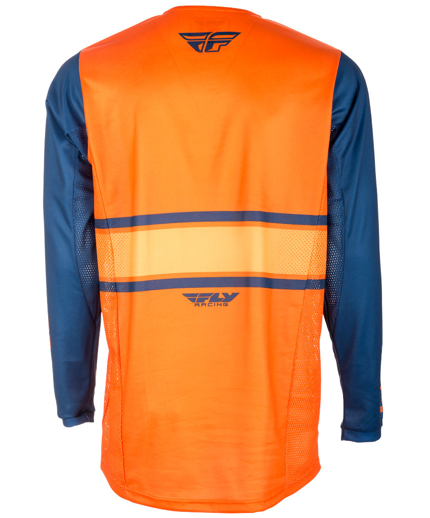 Fly Racing 2018 Kinetic Era Youth MX Jersey - Orange / Navy