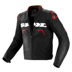 Spidi Evo Rider Leather Sports Jacket - Black / Red